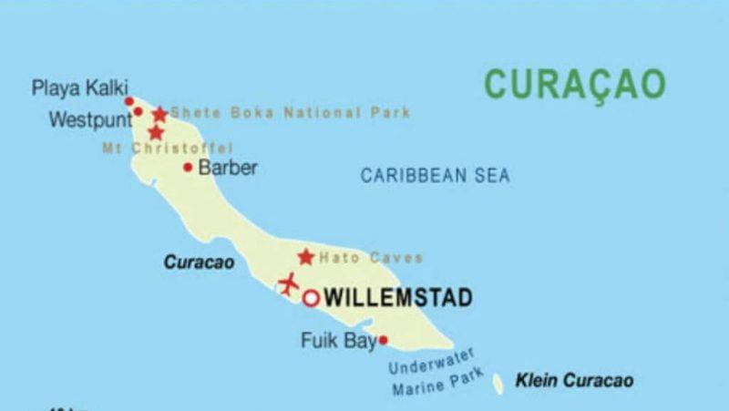 Mapa de la isla de Klein en Curaçao_ Internet