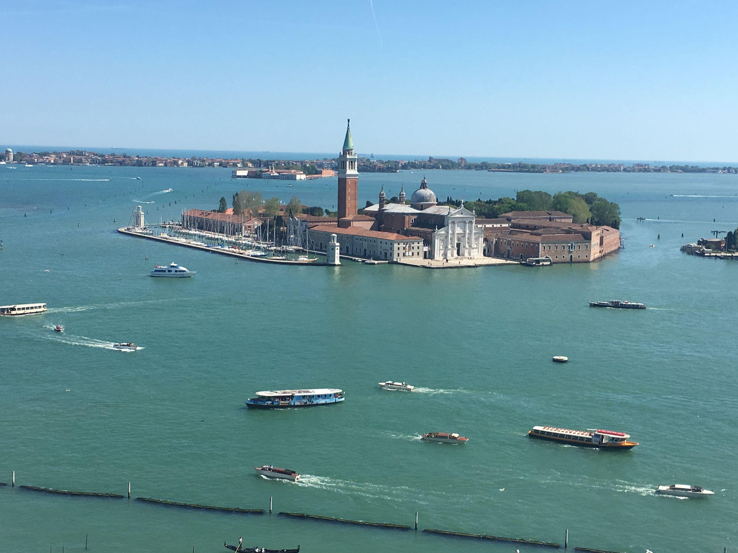 Isla San Giorgio Maggiore, campanile con vistas espectaculres