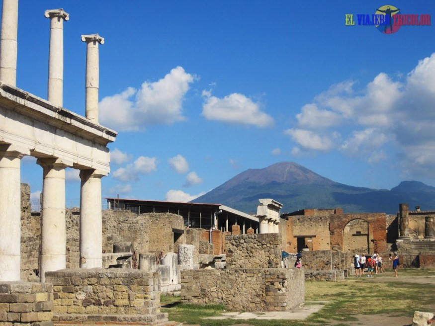 Vesubio en Pompeya
