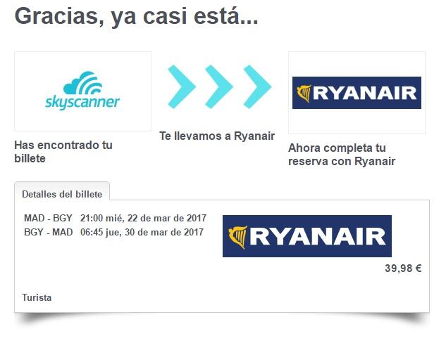 Comprar vuelos en Skyscanner