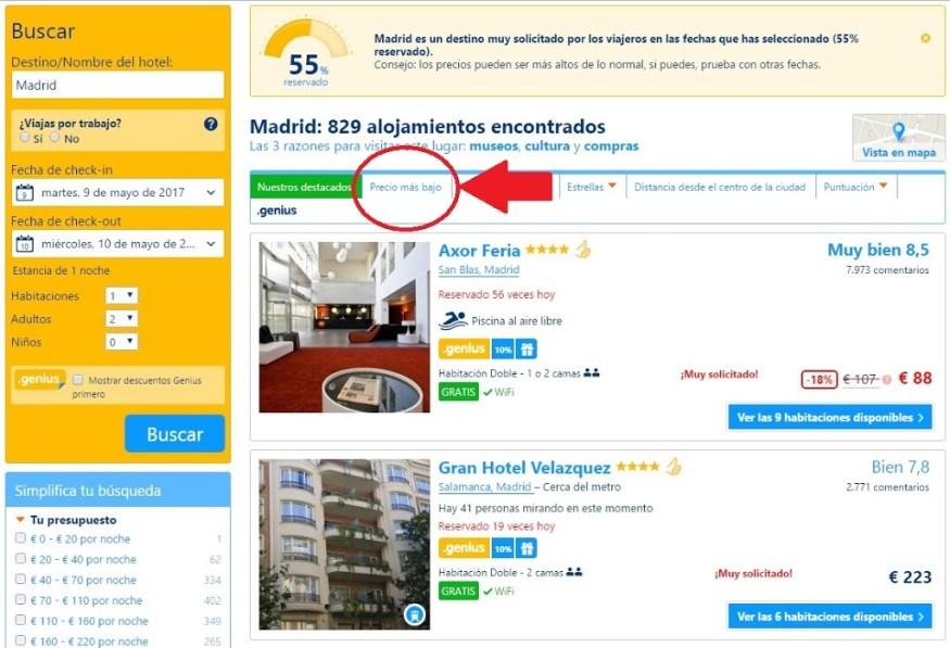 Hoteles al mejor precio