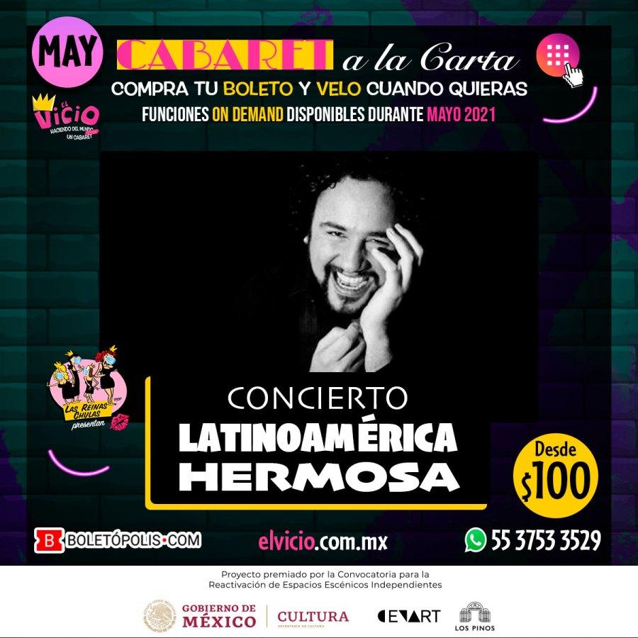 Postal Concierto Latinoamérica Hermosa, mayo 2021