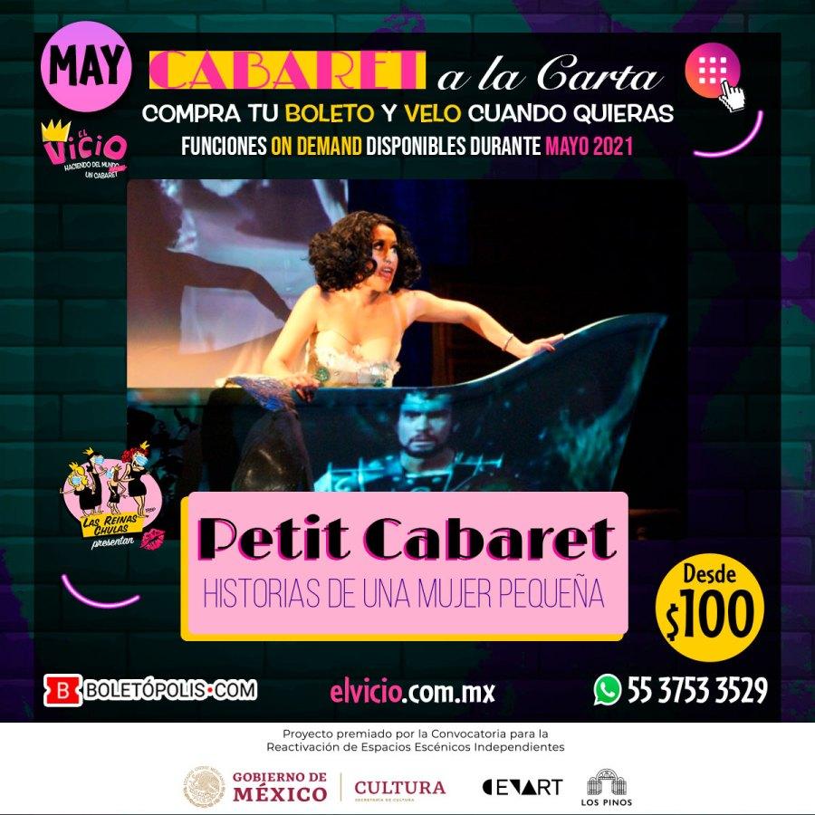 Postal de Petit Cabaret, Historias de Una Mujer Pequeña, con Nora Huerta