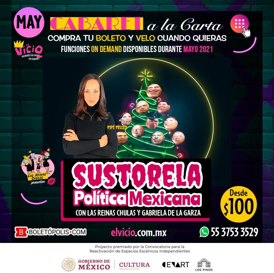 Postal de la Sustorela Política Mexicana, para mayo 2021