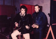 Elvis & Chips Moman at American Sound in February 1969.
