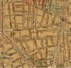 Detall d'un mapa de Barcelona de l'any 1932