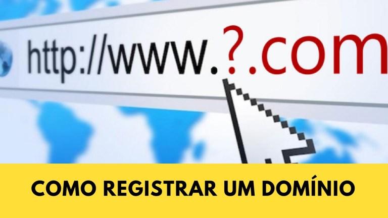Como registro meu dominio .com.br?