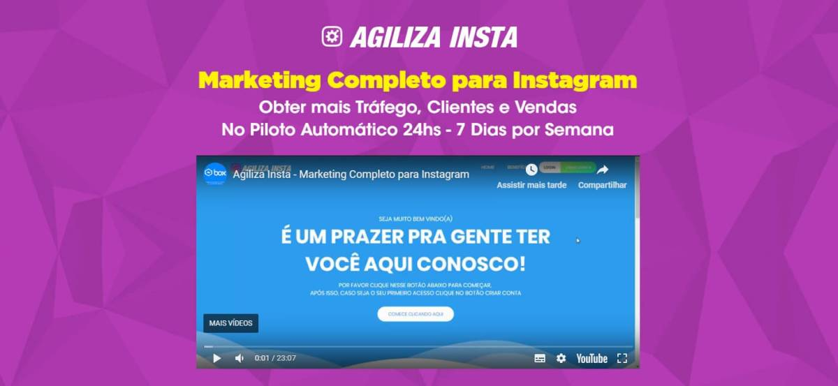 Agiliza Insta - Marketing Completo para Instagram