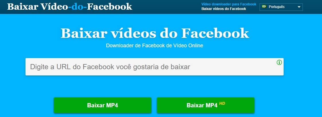Baixar vídeos do Facebook ou IGTV