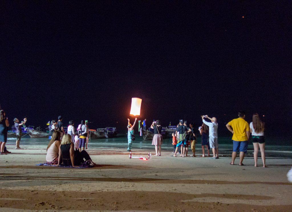 Sky lantern in krabi