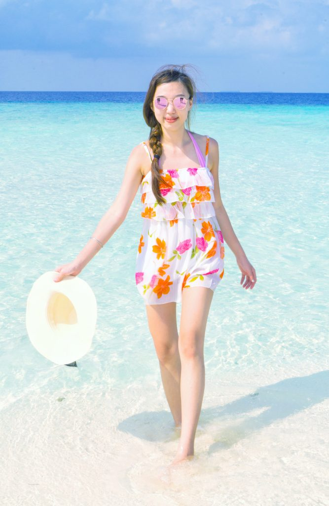 Floral Print Dress beach wear maldives lookbook vacation lookbook