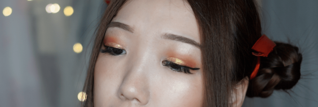 Red Gold Eyeshadow CNY