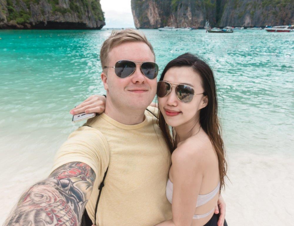 maya bay phi phi island, maya bay beach,koh phi phi phuket