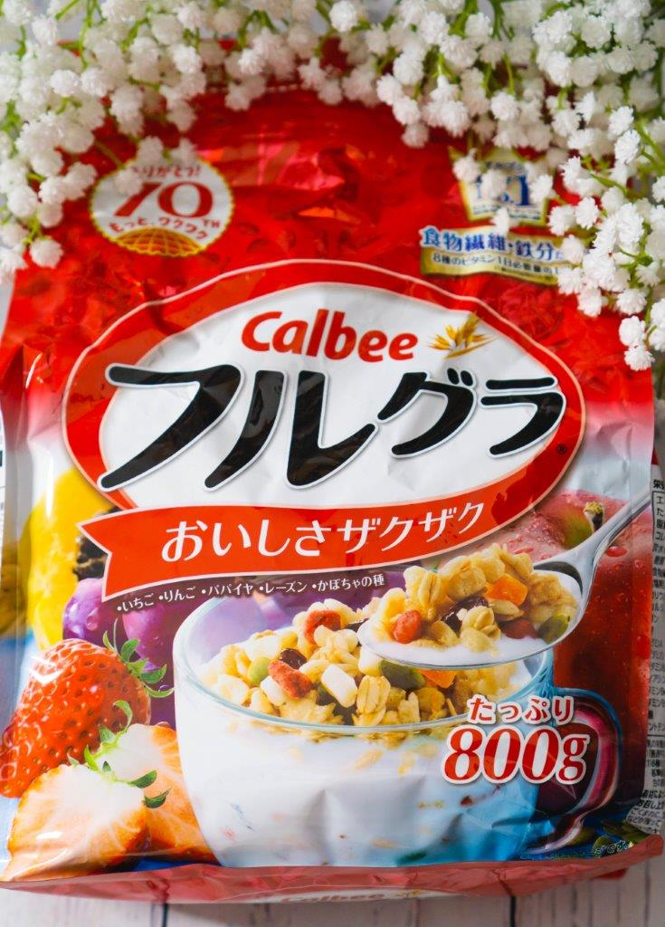 calbee fruit granola breakfast cereal, japan don quijote must buy