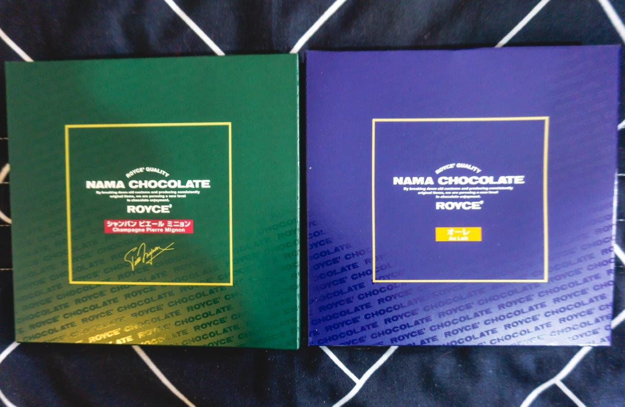nama japanese chocolate, au lait royce chocolates