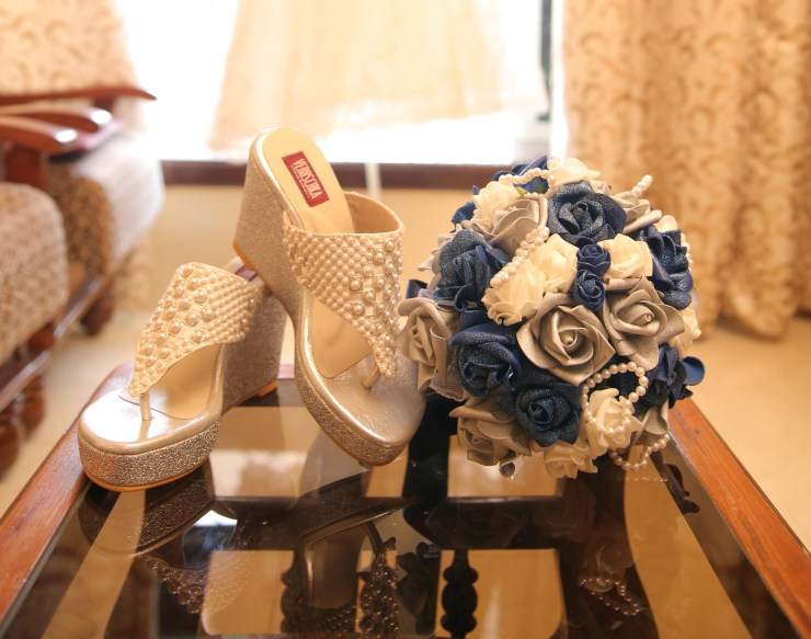 Wedding shoes custom made by Veruschka