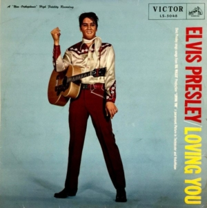 Make it fun with original 1957 LP of LOVING YOU by Elvis Presley from Japan.