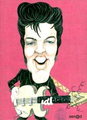 Elvis' Golden Caricatures Volume 5: caricature of Elvis by Senad Nadarevic.