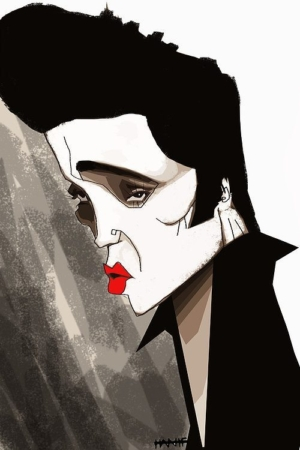 Elvis' Golden Caricatures Volume 5: caricature of Elvis by Hanif Bahari.