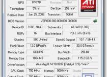 顯示卡溫度監控軟體 GPU-Z