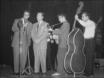 1956 Elvis onstage Bill and mayB the DJ Bill Randel
