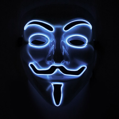 glowing anonymous mask