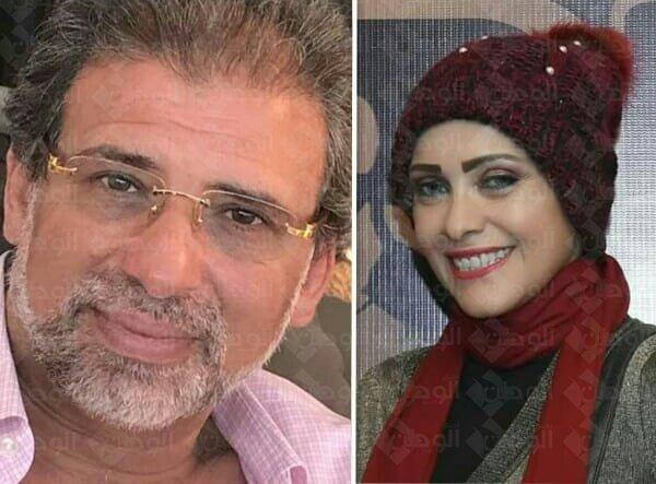 المخرج خالد يوسف يحذر الصحفية هبه فرج من الحملات الممنهجه ضد تعديل الدستور .