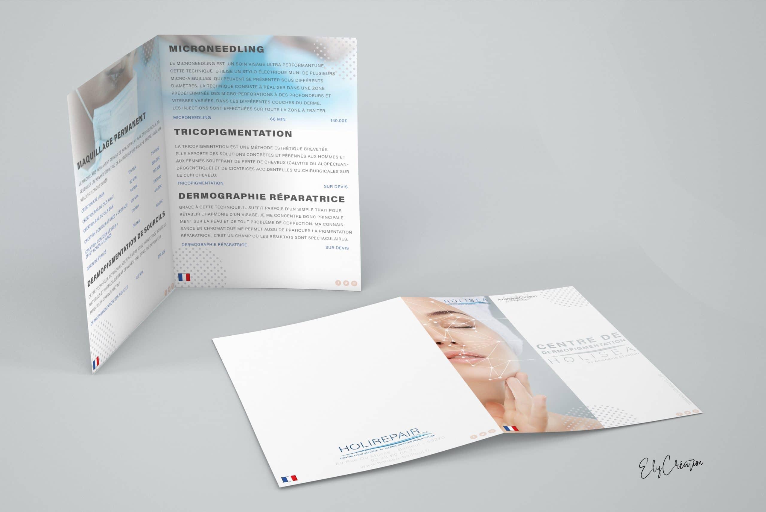 Brochure à 4 faces