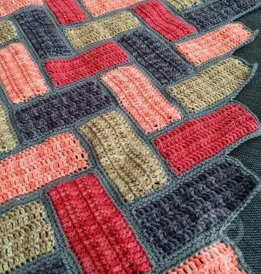 tapis en rectangle elylou crochette