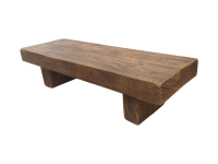 The Rustic Beam Bench Coffee Table - Ely Rustic Furniture
