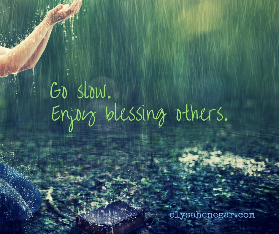 enjoy blessing others