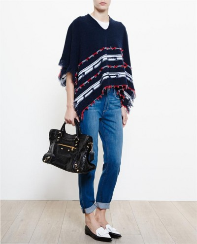 BARRIE Fringed Cashmere Poncho at brownsfashion.com