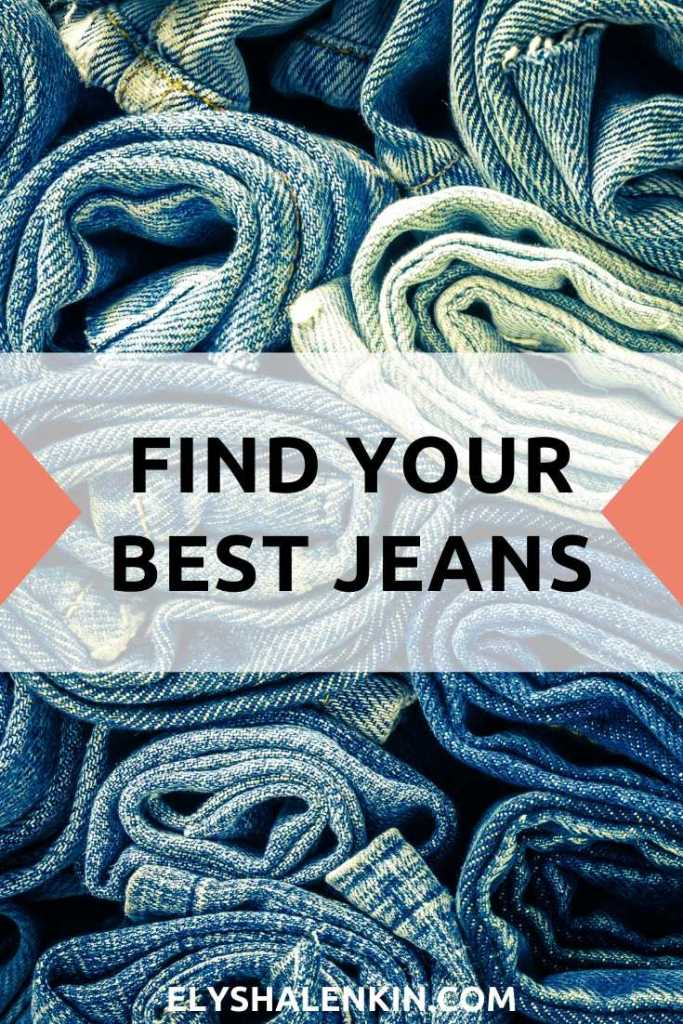 Find your best jeans text overlay image of rolled up denim