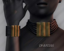 Ichtacha choker set - charcoal