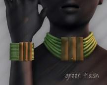 Ichtacha choker set - green flash