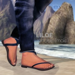 Epicene male sandal ad