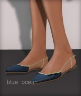 Line pointy flats - blue ocean