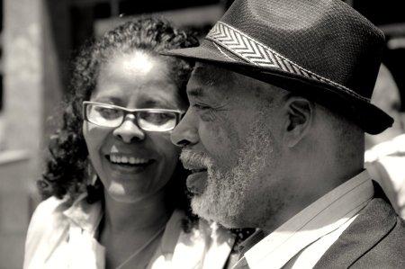 Retrato capturado em passeata da conciencia negra em SP