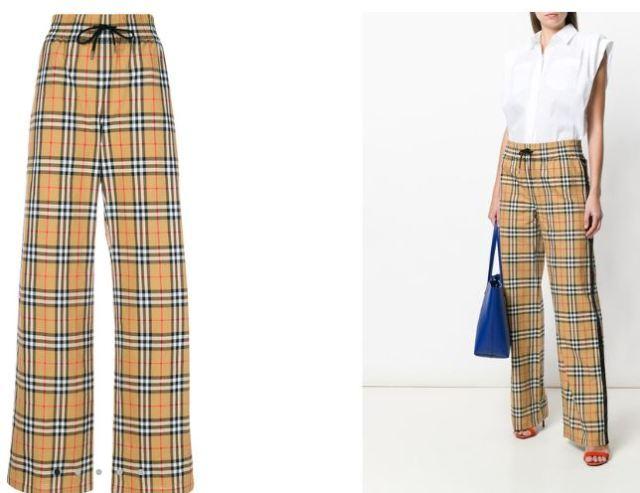 El pantalón a cuadros ideal es de Burberry