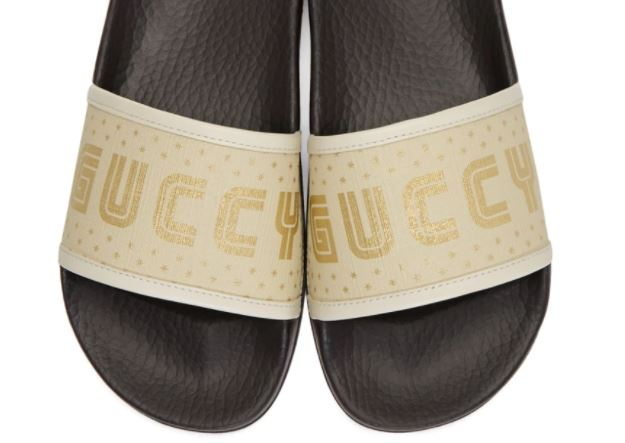 chanclas retro gucci