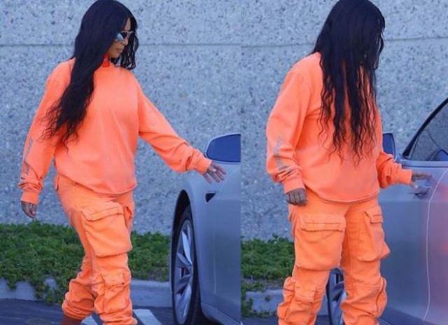 Kim Kardashian, vista con nueva ropa Yeezy nunca vista antes