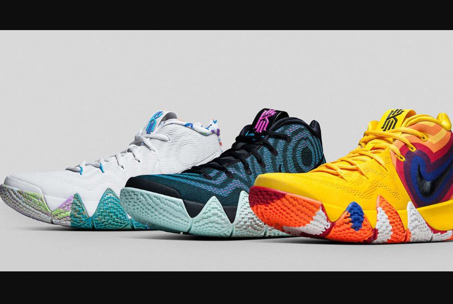 Nike Kyrie 4s multicolor