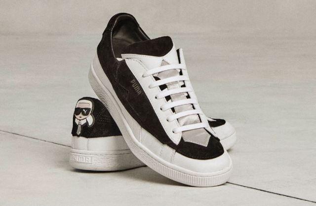 Sneakers con avatar y chaquetas esmoquin, en la colaboración Karl Lagerfeld x PUMA