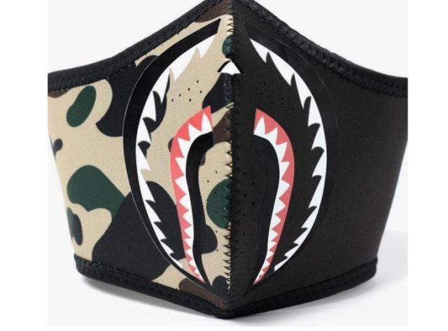 BAPE presenta sus nuevas máscaras de tiburón de camuflaje para esta temporada