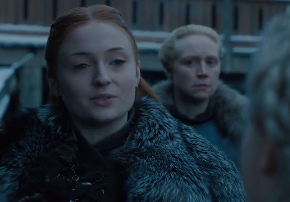Daenerys llegando a Invernalia