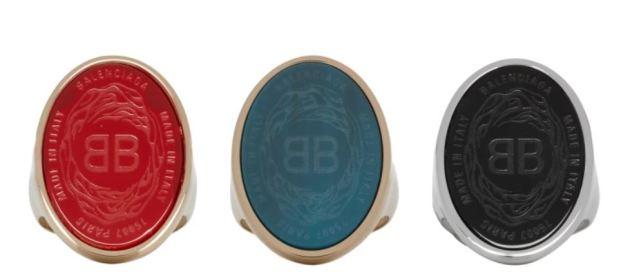Balenciaga lanza anillos Chevalière de lujo en tres colores
