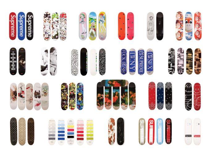 tablas de skate de Supreme