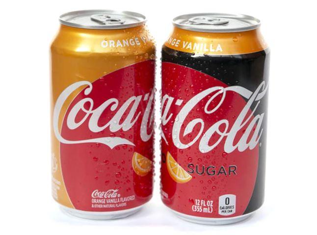 coca cola con sabor a vainilla y naranja