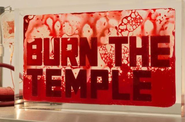 La exposición del colaborador de Supreme que está hecha con sangre humana