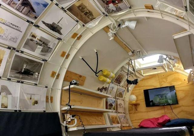 El tanque de gasoil en el que puedes vivir, último proyecto de Martín Marro